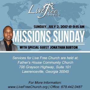 Missions Sunday - 2017